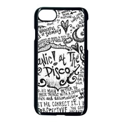 Panic! At The Disco Lyric Quotes Apple Iphone 7 Seamless Case (black) by Onesevenart