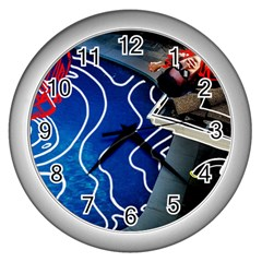 Panic! At The Disco Released Death Of A Bachelor Wall Clocks (silver)  by Onesevenart