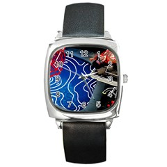 Panic! At The Disco Released Death Of A Bachelor Square Metal Watch by Onesevenart