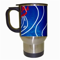 Panic! At The Disco Released Death Of A Bachelor Travel Mugs (white) by Onesevenart