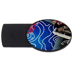 Panic! At The Disco Released Death Of A Bachelor Usb Flash Drive Oval (4 Gb) by Onesevenart