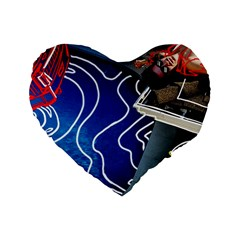 Panic! At The Disco Released Death Of A Bachelor Standard 16  Premium Flano Heart Shape Cushions by Onesevenart