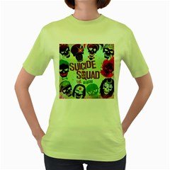 Panic! At The Disco Suicide Squad The Album Women s Green T Shirt by Onesevenart