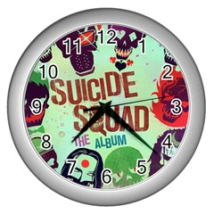 Panic! At The Disco Suicide Squad The Album Wall Clocks (silver)  by Onesevenart