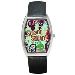 Panic! At The Disco Suicide Squad The Album Barrel Style Metal Watch by Onesevenart