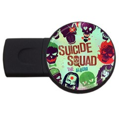 Panic! At The Disco Suicide Squad The Album Usb Flash Drive Round (4 Gb) by Onesevenart