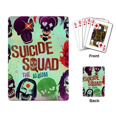 Panic! At The Disco Suicide Squad The Album Playing Card by Onesevenart