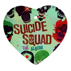 Panic! At The Disco Suicide Squad The Album Heart Ornament (two Sides) by Onesevenart