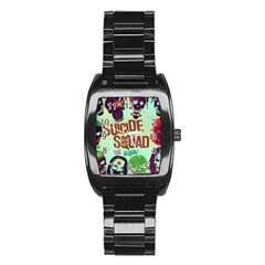 Panic! At The Disco Suicide Squad The Album Stainless Steel Barrel Watch by Onesevenart
