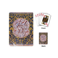 Panic! At The Disco Playing Cards (mini)  by Onesevenart