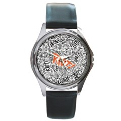 Paramore Is An American Rock Band Round Metal Watch by Onesevenart