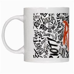 Paramore Is An American Rock Band White Mugs by Onesevenart