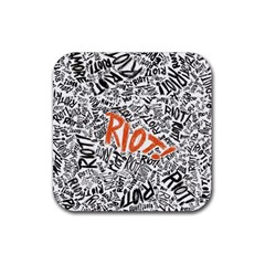 Paramore Is An American Rock Band Rubber Square Coaster (4 Pack)  by Onesevenart
