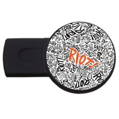 Paramore Is An American Rock Band Usb Flash Drive Round (2 Gb) by Onesevenart