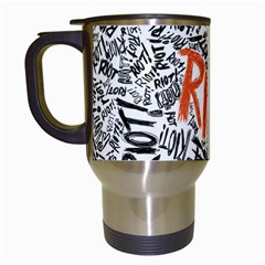 Paramore Is An American Rock Band Travel Mugs (white) by Onesevenart