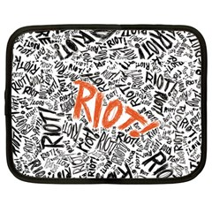 Paramore Is An American Rock Band Netbook Case (large) by Onesevenart