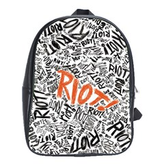 Paramore Is An American Rock Band School Bags(large)  by Onesevenart