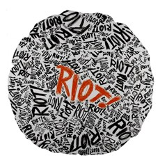 Paramore Is An American Rock Band Large 18  Premium Flano Round Cushions by Onesevenart