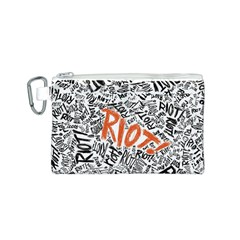 Paramore Is An American Rock Band Canvas Cosmetic Bag (s) by Onesevenart