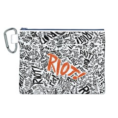 Paramore Is An American Rock Band Canvas Cosmetic Bag (l) by Onesevenart