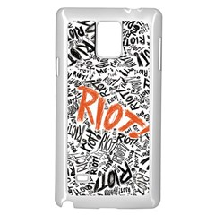 Paramore Is An American Rock Band Samsung Galaxy Note 4 Case (white) by Onesevenart