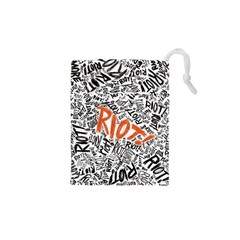 Paramore Is An American Rock Band Drawstring Pouches (xs)  by Onesevenart