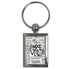 Pierce The Veil Music Band Group Fabric Art Cloth Poster Key Chains (rectangle)  by Onesevenart