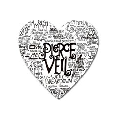 Pierce The Veil Music Band Group Fabric Art Cloth Poster Heart Magnet by Onesevenart