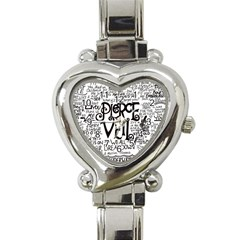 Pierce The Veil Music Band Group Fabric Art Cloth Poster Heart Italian Charm Watch by Onesevenart