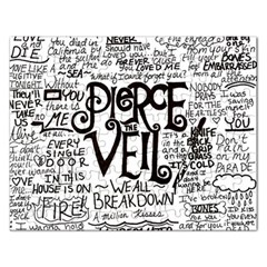 Pierce The Veil Music Band Group Fabric Art Cloth Poster Rectangular Jigsaw Puzzl by Onesevenart