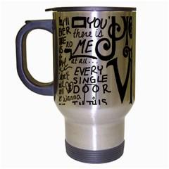 Pierce The Veil Music Band Group Fabric Art Cloth Poster Travel Mug (silver Gray) by Onesevenart