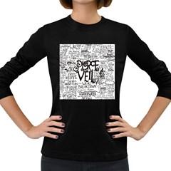 Pierce The Veil Music Band Group Fabric Art Cloth Poster Women s Long Sleeve Dark T Shirts by Onesevenart