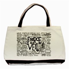 Pierce The Veil Music Band Group Fabric Art Cloth Poster Basic Tote Bag by Onesevenart