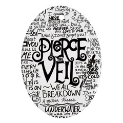 Pierce The Veil Music Band Group Fabric Art Cloth Poster Oval Ornament (two Sides) by Onesevenart