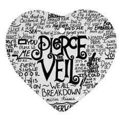Pierce The Veil Music Band Group Fabric Art Cloth Poster Heart Ornament (two Sides) by Onesevenart