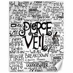 Pierce The Veil Music Band Group Fabric Art Cloth Poster Canvas 12  X 16   by Onesevenart