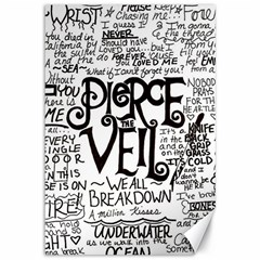 Pierce The Veil Music Band Group Fabric Art Cloth Poster Canvas 12  X 18   by Onesevenart
