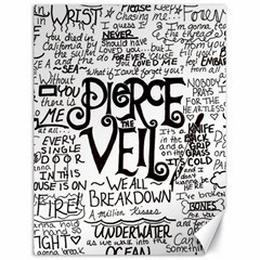 Pierce The Veil Music Band Group Fabric Art Cloth Poster Canvas 18  X 24   by Onesevenart