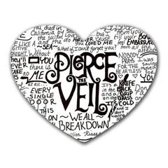 Pierce The Veil Music Band Group Fabric Art Cloth Poster Heart Mousepads by Onesevenart