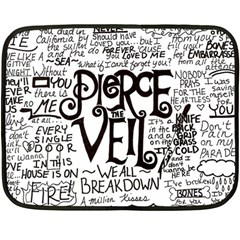 Pierce The Veil Music Band Group Fabric Art Cloth Poster Double Sided Fleece Blanket (mini)  by Onesevenart