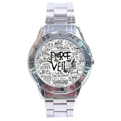 Pierce The Veil Music Band Group Fabric Art Cloth Poster Stainless Steel Analogue Watch by Onesevenart