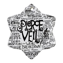 Pierce The Veil Music Band Group Fabric Art Cloth Poster Snowflake Ornament (two Sides) by Onesevenart