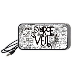 Pierce The Veil Music Band Group Fabric Art Cloth Poster Portable Speaker (black) by Onesevenart