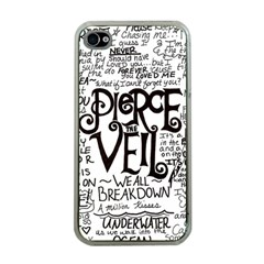 Pierce The Veil Music Band Group Fabric Art Cloth Poster Apple Iphone 4 Case (clear) by Onesevenart