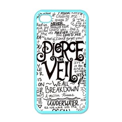 Pierce The Veil Music Band Group Fabric Art Cloth Poster Apple Iphone 4 Case (color) by Onesevenart