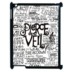 Pierce The Veil Music Band Group Fabric Art Cloth Poster Apple Ipad 2 Case (black) by Onesevenart