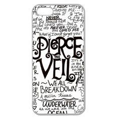 Pierce The Veil Music Band Group Fabric Art Cloth Poster Apple Seamless Iphone 5 Case (clear) by Onesevenart
