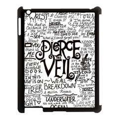 Pierce The Veil Music Band Group Fabric Art Cloth Poster Apple Ipad 3/4 Case (black) by Onesevenart