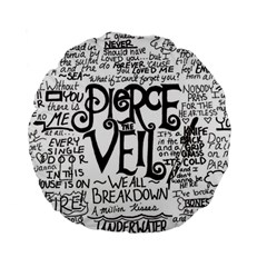Pierce The Veil Music Band Group Fabric Art Cloth Poster Standard 15  Premium Round Cushions by Onesevenart