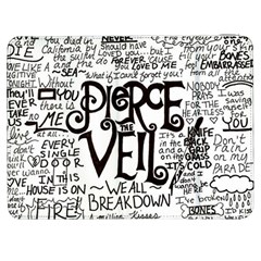 Pierce The Veil Music Band Group Fabric Art Cloth Poster Samsung Galaxy Tab 7  P1000 Flip Case by Onesevenart